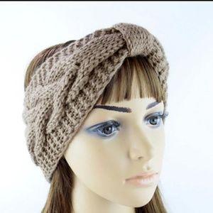 Accessories - 3/$20 Knit Headband Ear Warmer Muff Brown Khaki